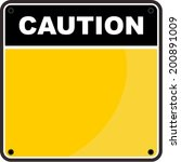 caution sign | Shutterstock .eps vector #200891009