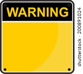 warning sign | Shutterstock .eps vector #200891024