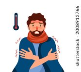 sick man suffering from flu...   Shutterstock .eps vector #2008912766