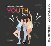 international youth day poster... | Shutterstock .eps vector #2008921970