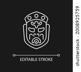 ghost mask museum white linear... | Shutterstock .eps vector #2008925759