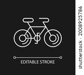 bicycle white linear icon for...   Shutterstock .eps vector #2008925786