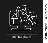 horror games white linear icon... | Shutterstock .eps vector #2008925999