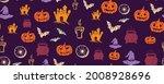 halloween symbols hand drawn...   Shutterstock .eps vector #2008928696