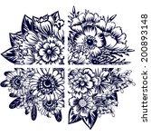 flower set | Shutterstock .eps vector #200893148