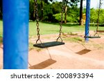 children swing in the park | Shutterstock . vector #200893394