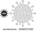 mesh 2021 coronavirus model... | Shutterstock .eps vector #2008937300