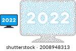 mesh 2022 display screen model... | Shutterstock .eps vector #2008948313