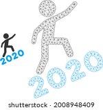 mesh man climbing 2020 model... | Shutterstock .eps vector #2008948409
