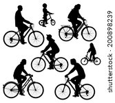 bicyclists silhouettes... | Shutterstock .eps vector #200898239