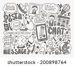 doodle communication background | Shutterstock .eps vector #200898764