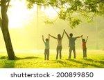 asian family having quality... | Shutterstock . vector #200899850