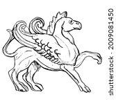 antique griffin. fantastic...   Shutterstock .eps vector #2009081450