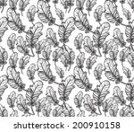 seamless pattern with feathers | Shutterstock . vector #200910158