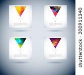 set of abstract vector... | Shutterstock .eps vector #200911340