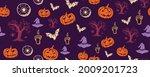 halloween symbols hand drawn...   Shutterstock .eps vector #2009201723