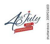 happy independence day united... | Shutterstock .eps vector #200921603