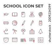 school set icon  isolated...   Shutterstock .eps vector #2009234399