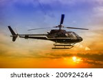 helicopter for sightseeing. | Shutterstock . vector #200924264