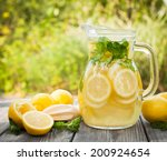 preparation of the lemonade... | Shutterstock . vector #200924654