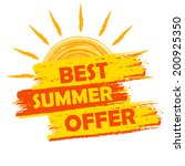 best summer offer banner   text ... | Shutterstock .eps vector #200925350