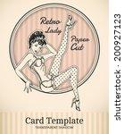 vector retro pin up woman... | Shutterstock .eps vector #200927123