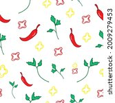 seamless pattern with...   Shutterstock .eps vector #2009279453