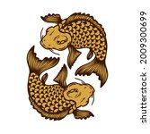 illustration of carp koi....   Shutterstock .eps vector #2009300699