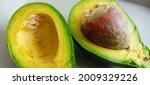 Avocado Fruit That Is Split...