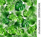 vector tropical seamless...   Shutterstock .eps vector #2009356406
