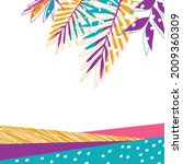 hand drawn trendy abstract...   Shutterstock .eps vector #2009360309