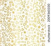 gold foil doodle pattern...   Shutterstock .eps vector #2009360330