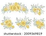 set of spring lemon flower...   Shutterstock .eps vector #2009369819