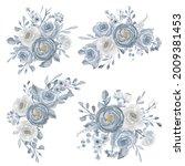 elegant white and navy blue...   Shutterstock .eps vector #2009381453