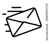 Fast Mail Icon Outline Vector....