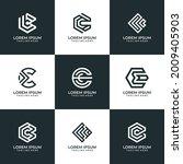 set of creative letter c logo... | Shutterstock .eps vector #2009405903