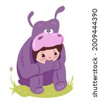 cheerful kids character in... | Shutterstock .eps vector #2009444390