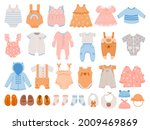 newborn clothes. baby apparel...   Shutterstock .eps vector #2009469869