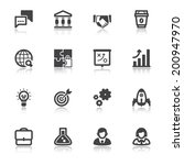 set of flat icons about... | Shutterstock .eps vector #200947970