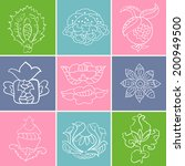 vector set of stickers. you can ... | Shutterstock .eps vector #200949500