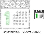 mesh 2022 year first day model... | Shutterstock .eps vector #2009502020