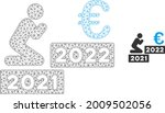 mesh man pray euro 2022 model... | Shutterstock .eps vector #2009502056