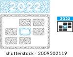 mesh 2022 calendar day model... | Shutterstock .eps vector #2009502119