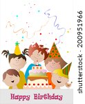 happy birthday | Shutterstock .eps vector #200951966