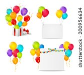 Set Of Birthday Objects For...
