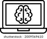 online checkup vector line icon ... | Shutterstock .eps vector #2009569610