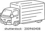 vector illustration of truck | Shutterstock .eps vector #200960408