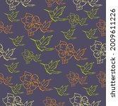 seamless patterns. beautiful...   Shutterstock .eps vector #2009611226
