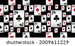 playing cards seamless pattern. ...   Shutterstock .eps vector #2009611229