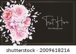 elegant hand drawn pink...   Shutterstock .eps vector #2009618216